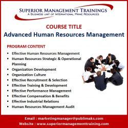 Advanced Human Resources Management