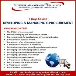 Developing & Managing e-Procurement