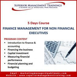Finance Management For Non Financial Executives
